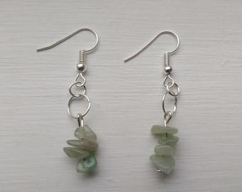 Amazonite simple dangle earrings
