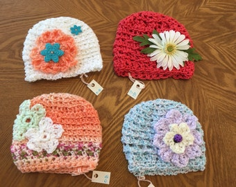 0-3 Month Crocheted Hats