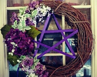 Grapevine Pentacle Wreath