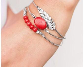 Catch A Tail Wind Red Bracelet