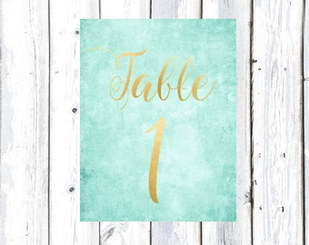 Table Numbers for Wedding Reception or other Engagements