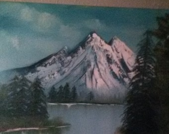 Original Oil - Winter Mountains