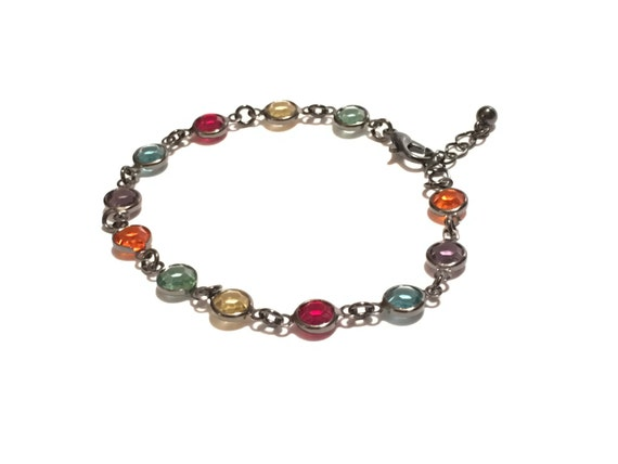 Colorful - Hematite Crystal Beaded Bracelet | Steel Gray | Black | Multi-color | Bracelet | Gift | Gifts | ARI