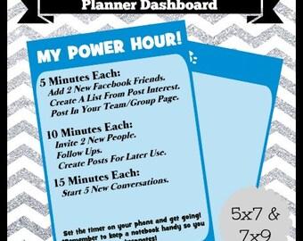 Digital Printable Coach MLM Representitive Planner Dashboard 5x7 & 7x9 Life Happy Travel