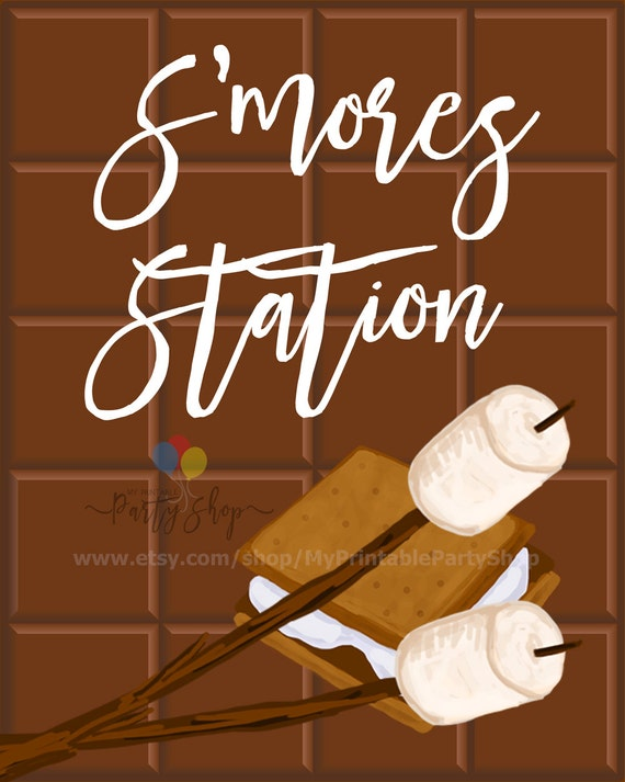 S'mores Station Sign