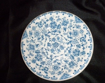 Vintage Blue and White Flowered salad plate
