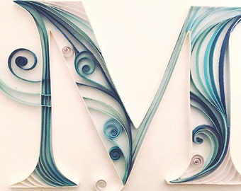 Custom Quilled Paper Monogram