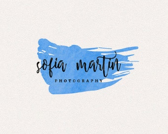 Blue Logo | Logo Design, Graphic Design, Custom Logo, Photography Logo, Logo for Small Business, Boutique Logo