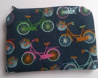 Coin purse, small makeup bag, cosmetics pouch, accessories or phone pouch, bicycle fabric