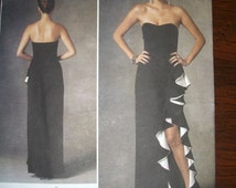 Badgley Mischka Vogue V1426 Evening dress size 6-14 A5, Prom, special occasion, black tie UNCUT 2014