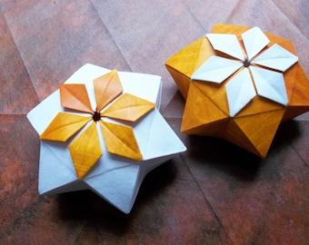 "Origami Instructions ""Pelleas Box"", DIY, diagram"