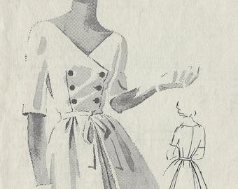 1950s Vintage Sewing Pattern B35 DRESS (R670) By Ben Barrack - SPADEA PATTERN By Ben Barrack A-2148
