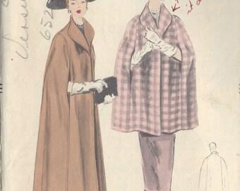"""1952 Vintage VOGUE Sewing Pattern CAPE B30""""- 32"""" (R709) Vogue 7891"""
