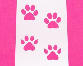 Paw Print Mylar Stencil Art Craft Home Decor Painting DIY Wall Art Cat Dog Reusable Various sizes FREE POSTAGE!