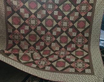Handmade Quilt - Fall Floral