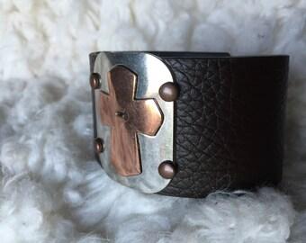 Cross cuff bracelet