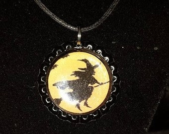 Witch Bottlecap Necklace