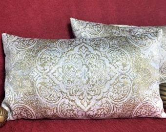 Decorative pillow, Throw Pillow, Decor, Gold Pillow, Rectangle Pillow
