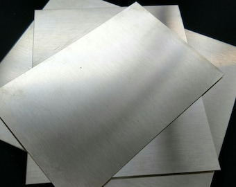 Ethically Sourced Sterling Silver Sheet, 1x3 3x3 6x6, 16 18 20 22 24 26 28 30 Gauge