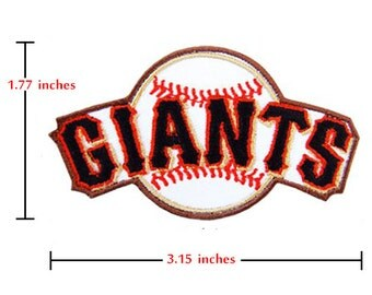 San Francisco Giants Patch Logo I Emrbroidered Iron on Patches.