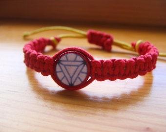 Iron Man Inspired Friendship Bracelet