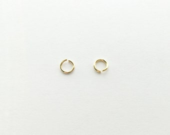 Gold O Shaped Jump Rings - 10 grams JO1-G