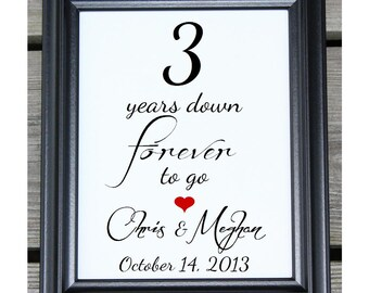 3 years of marriage   Etsy