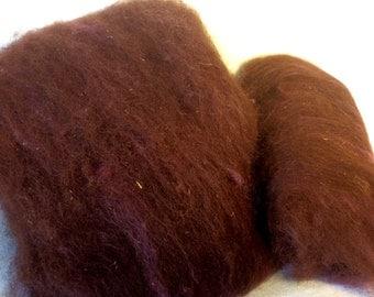 Alpaca/Mohair Batts in Chocolate/Pink