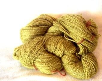 Wensleydale Wool DK Weight Yarn in Chartreuse