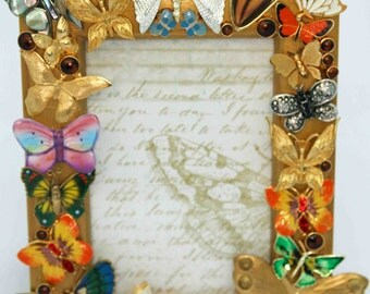 Jeweled Butterfly Picture Frame