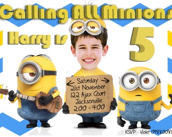 Minion Birthday Party Invitations gangcraftnet