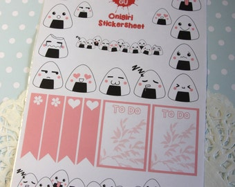Cut sticker set onigiri
