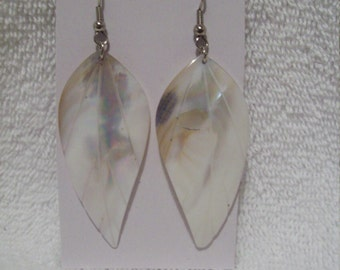 Leaf Earrings Made From Seashell