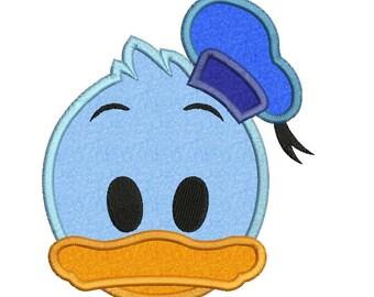 Emoji Donald Duck Disney Applique 01 Embroidery Design
