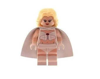Custom Designed Minifigure - White Queen Printed On LEGO Parts