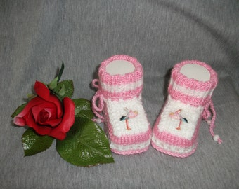 knitted baby shoes, baby shoes, baby socks, Babybooties * baby alarm *.