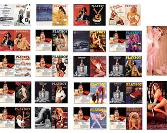 1:25 scale model Playboy magazine assortment