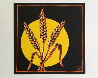 Harvest Moon Limited Edition Lino Print