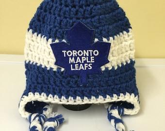 hockey crochet hat ? Etsy