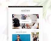 Aesthy - Simply Stylish & Authentic Wordpress Theme — RESPONSIVE — Self-hosted Wordpress Blog Theme — Feminine Design