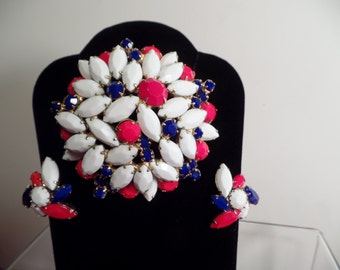 1950's Set with Patriotic Colors-Unsigned Beauty