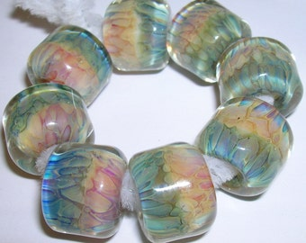 Beau Hawn Lampwork Boro GLASSADDICT Beads borosilicate beads SERENITY
