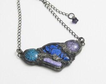 Sparkling Blue Glass Pendant