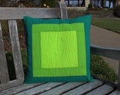 Quilted Pillow Cover, Green