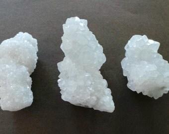 Raw Chunky Healing Crystal Apophyllite Quartz Spear Rod Wand Specimen