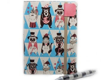 Kindle Cover - fits NEW Kindle eReader - Curious Circus - case for kindle eReaders - cute animals - circus pug, clown cat