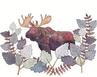 Moose Thicket print