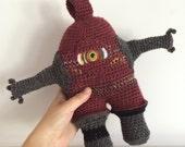 Monster Doll Plush Stuffed Animal Kawaii Plushie Softie Amigurumi, Collectible Crochet Soft Art Sculpture - Knotty Knucklehead