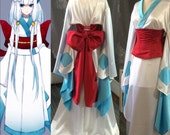 Frosslass Cosplay kimono Pokemon with obi corset
