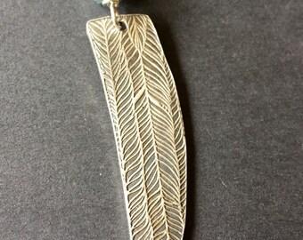 Talon, Aquamarine, Fine Silver, Sterling Silver Necklace, erinelizabeth